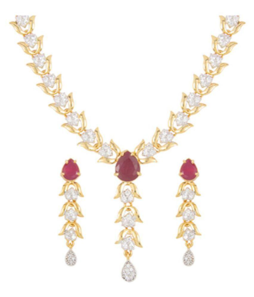 Anjali Jewellers Stone Setting Necklace Set Buy Anjali Jewellers