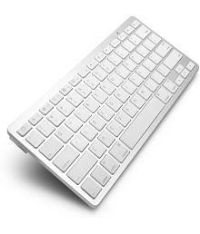 techdeal Ultraslim Bluetooth Multi-device Keyboard (White)