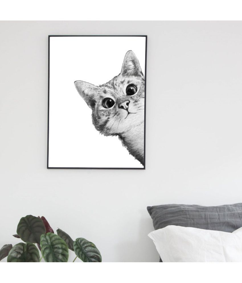 Cat Canvas Painting without Frame AHDCP-9