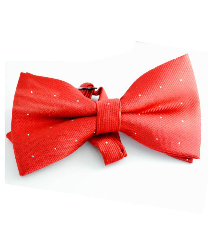 Faynci Red Plain Micro Fiber Necktie