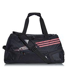 Adidas Black Printed Duffle Bag