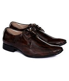 FRYE Party Artificial Leather Brown Formal Shoes