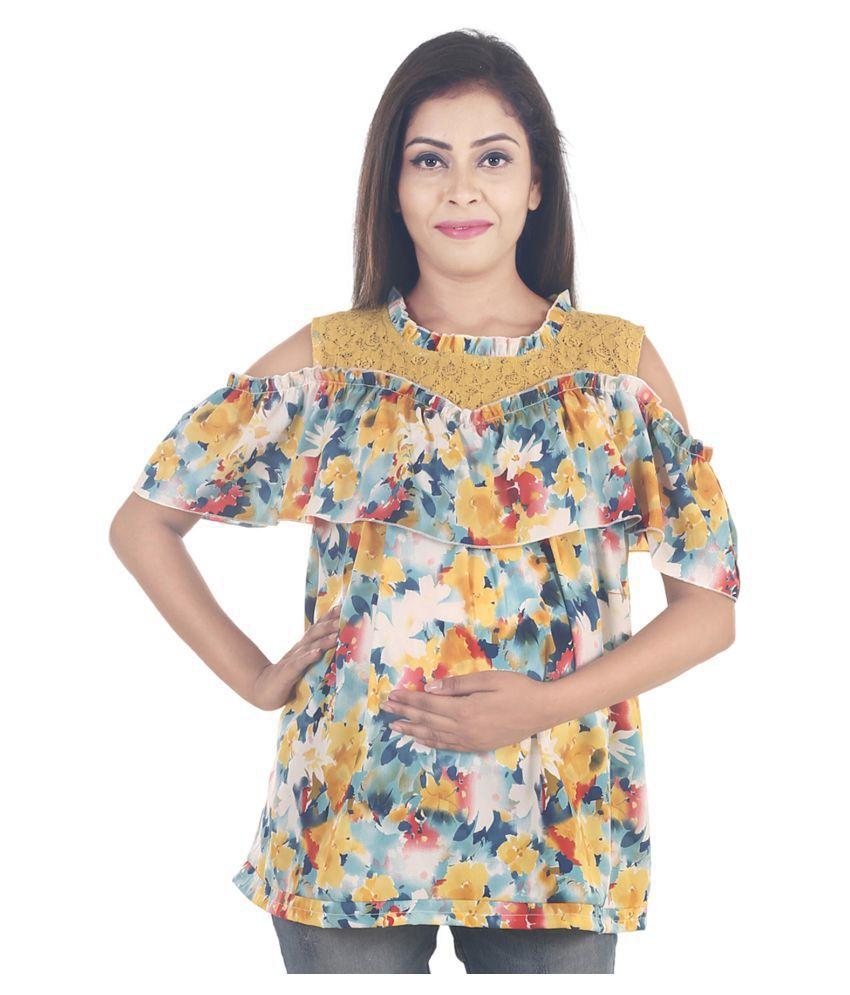 9teenAGAIN Viscose Maternity Wear Multi Color Tops