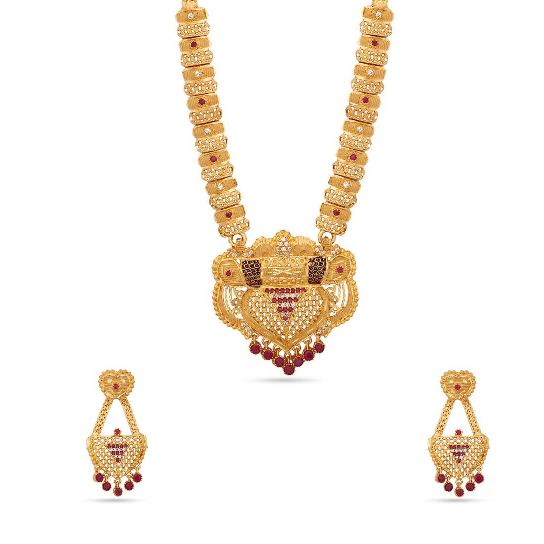 16735b66e26 Kalyani Covering 22K Gold plated Long Necklace set for Women and Girls -  Buy Kalyani Covering 22K Gold plated Long Necklace set for Women and Girls  Online ...
