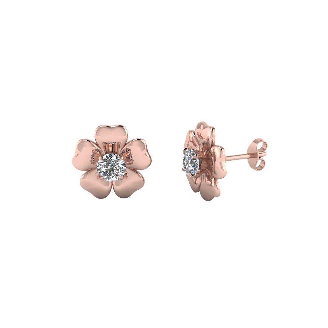 Amantran Gems And Jewels 14k Gold Diamond Studs