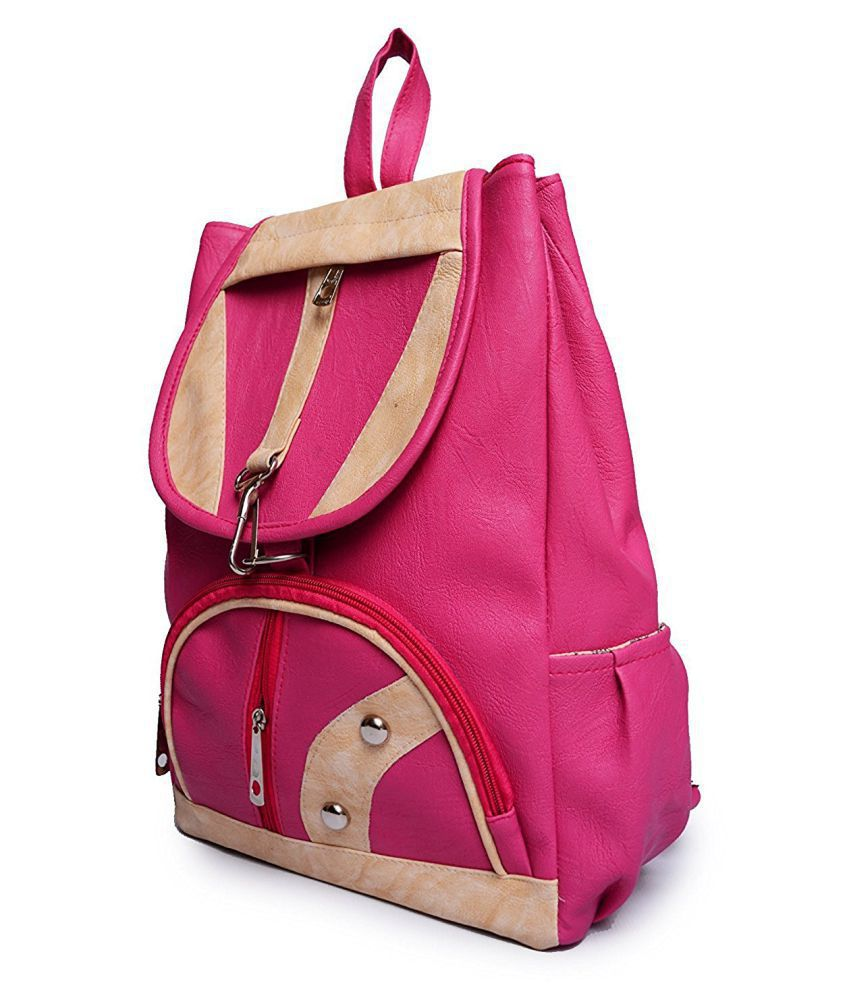 15136ba0a Bizarre Vogue Stylish College Bags Backpacks For Women   Girls (Pink