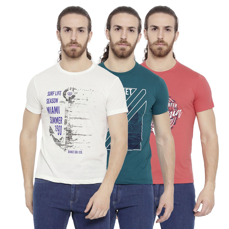 Duke Blue Round T-Shirt Pack of 3