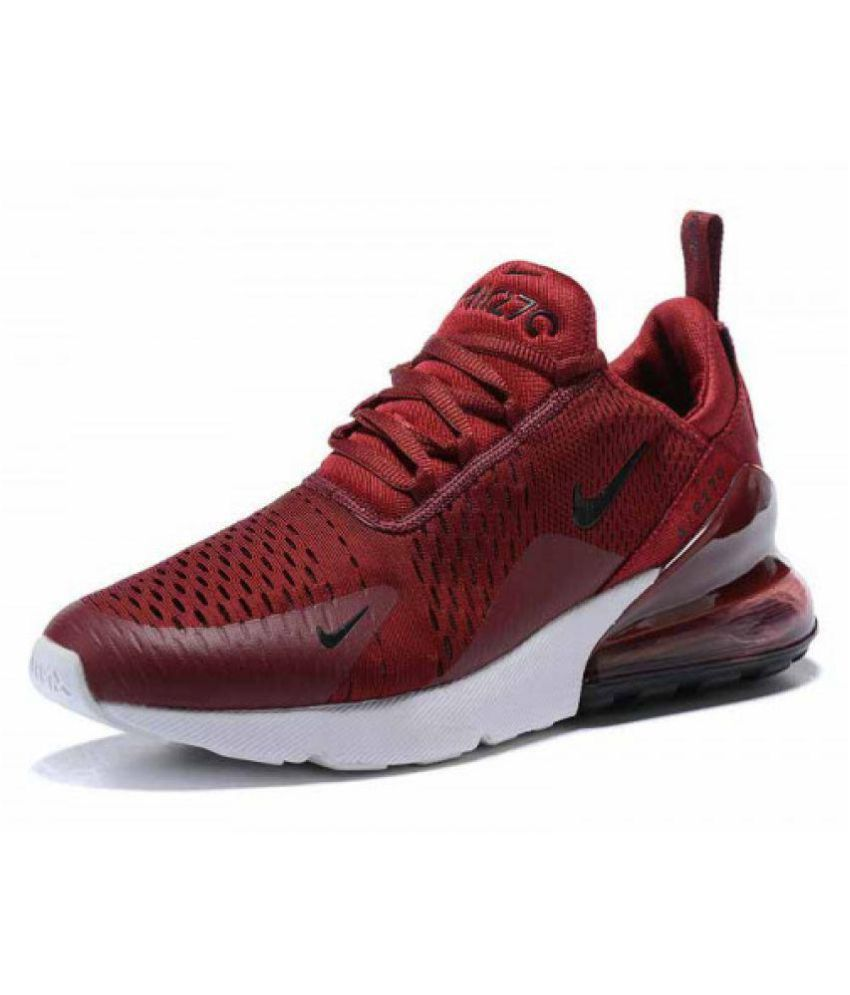 new style 1462d c8981 Nike Air Max 270 Red Running Shoes