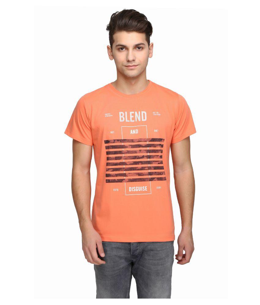 Be-Beu Orange Round T-Shirt