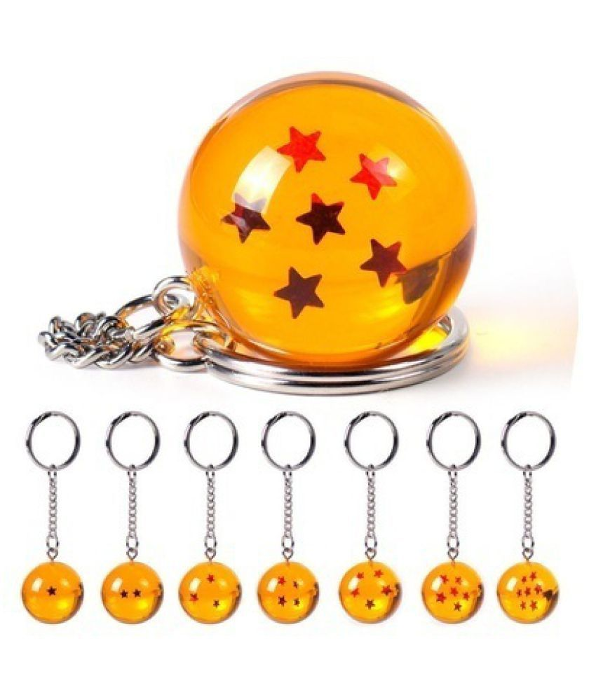 1Pc Dragon Ball Z Crystal Ball Keychain Keyring DBZ Pendant Gifts Cosplay   77ZDCP0030