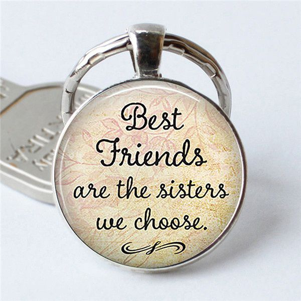 '' Best Friends Are The Sisters We Choose '' Friendship Creative Keychain for Friends Sisters Accessories Gifts