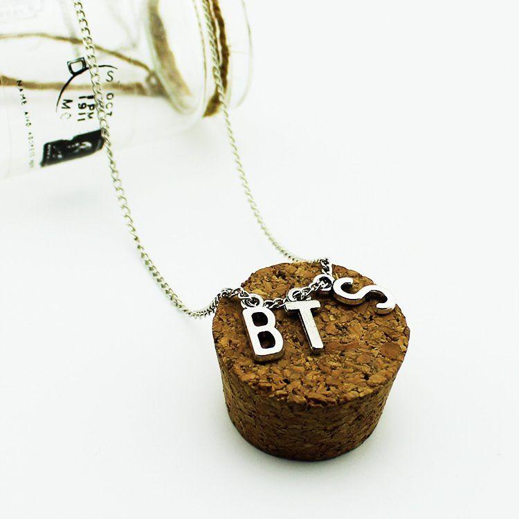 1 PC Korea POP BTS Kpop Bangtan Boys Fans Necklace