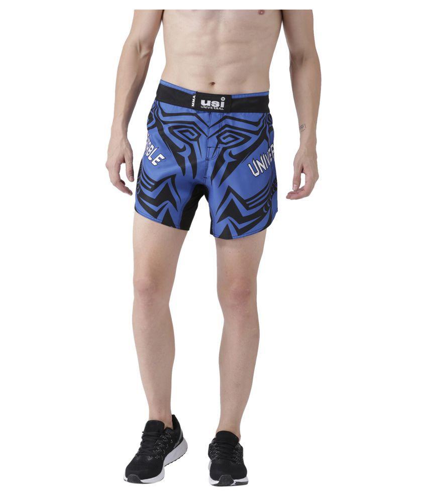USI Universal Blue And Black Training Shorts