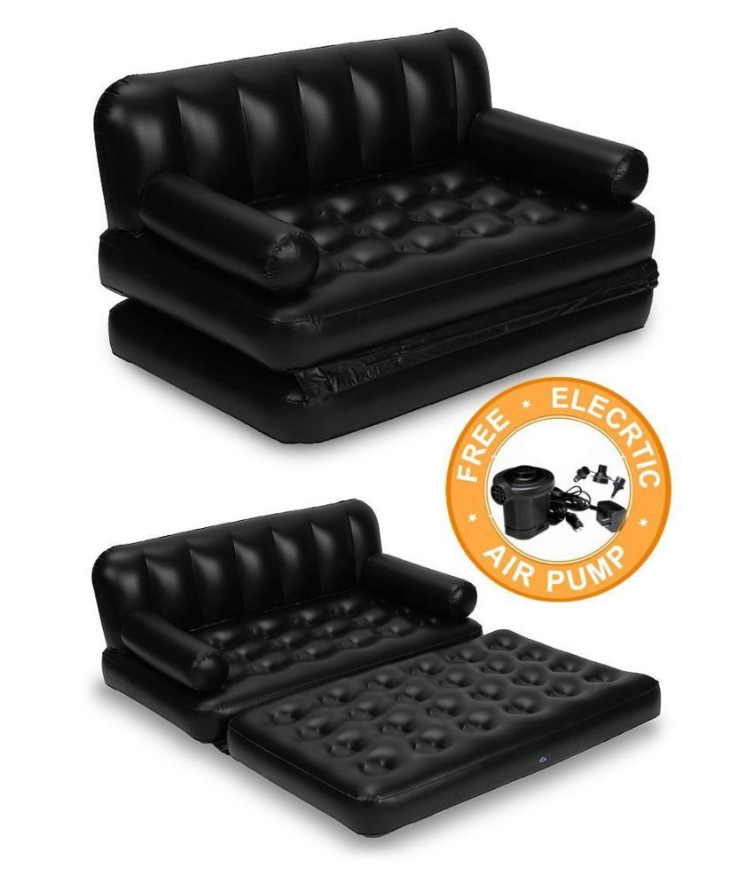 5 in 1 adjustable inflatable air bed cum sofa with inflatable pump
