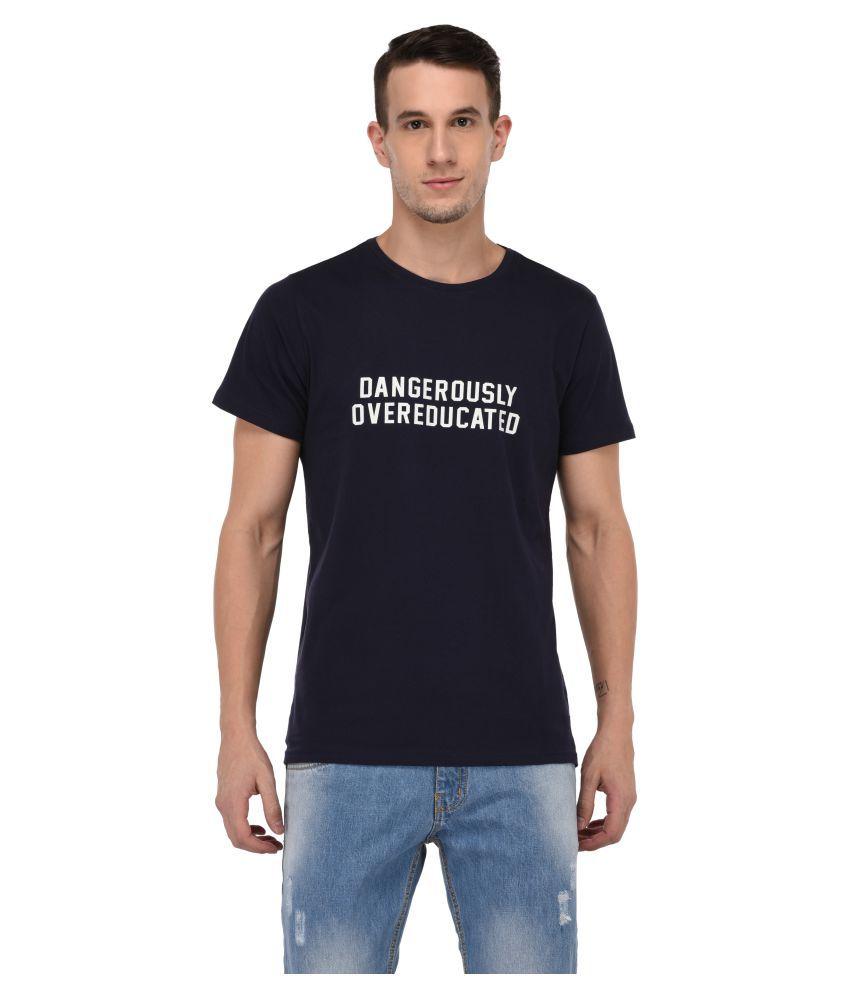 Jane Ashe Navy Round T-Shirt Pack of 1