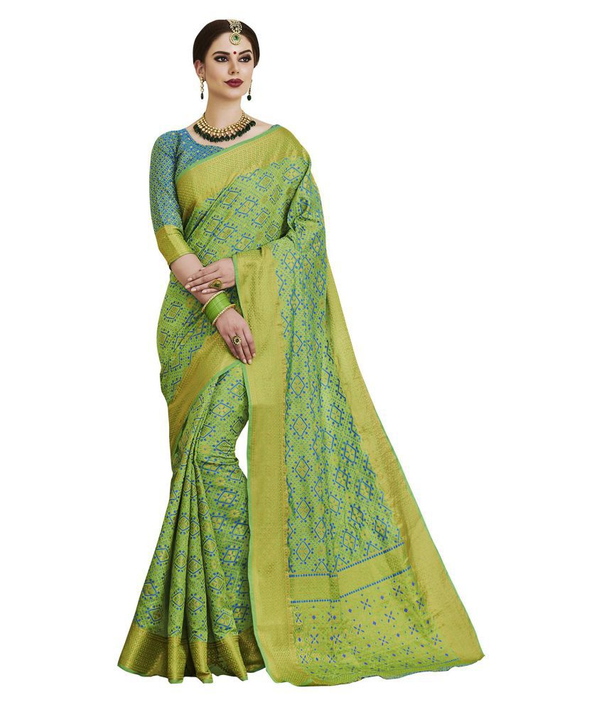 Saree Mall Green Silk Saree
