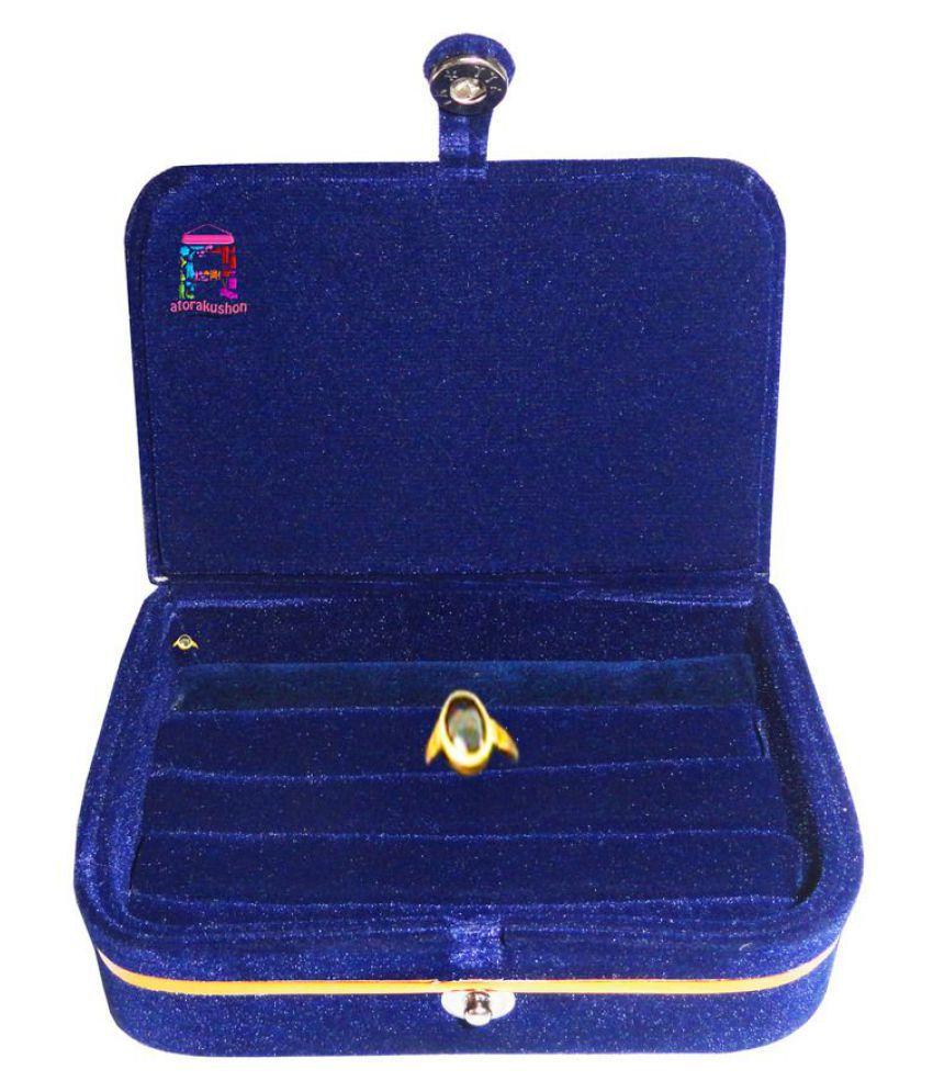 atorakushon® Multipurpose Ring box Ring case jewellry pouch Travelling Box With Snap Button Closure - Accomodates Case Organizer for Women Girls NonWoven