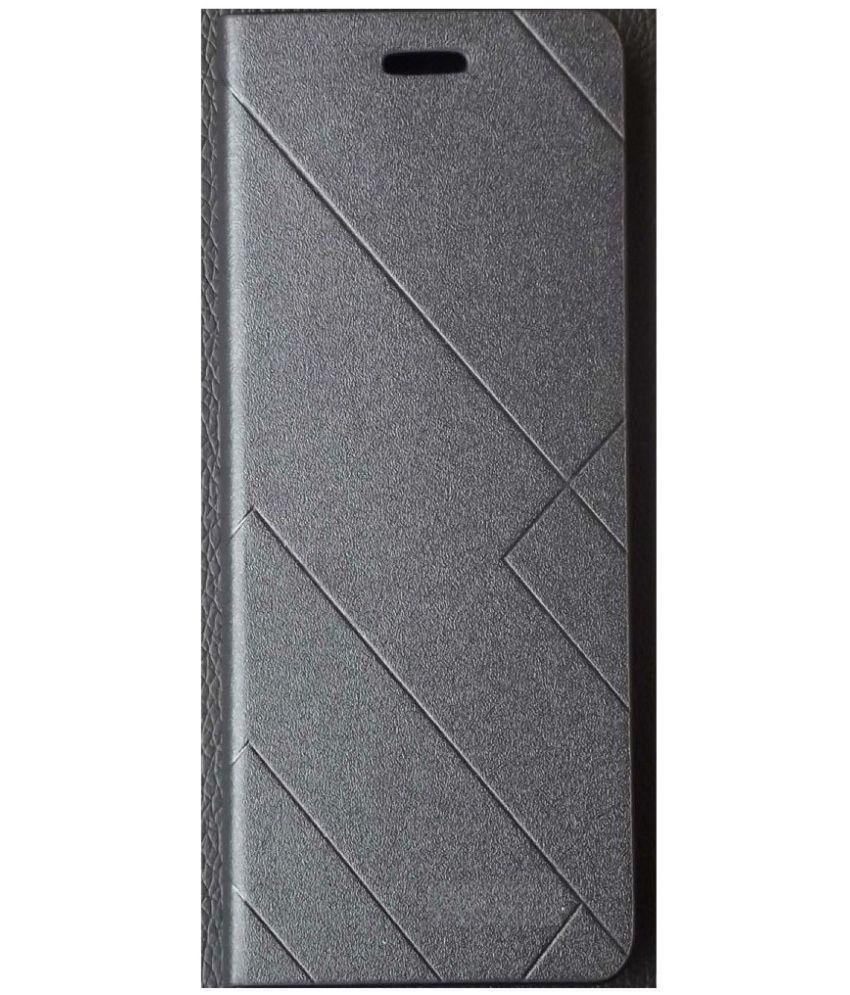 Xiaomi Mi Max 2 Flip Cover by Romito - Black
