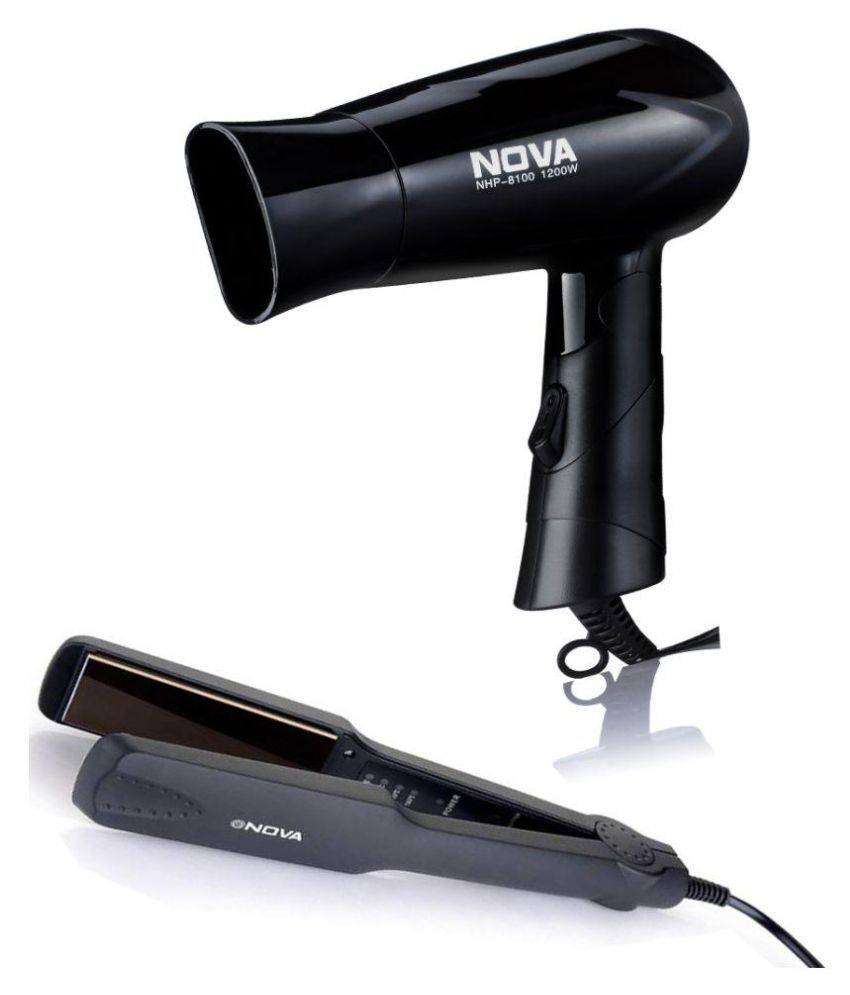 Nova NHS 860 hair straightener & NHP 8100 hair dryer combo