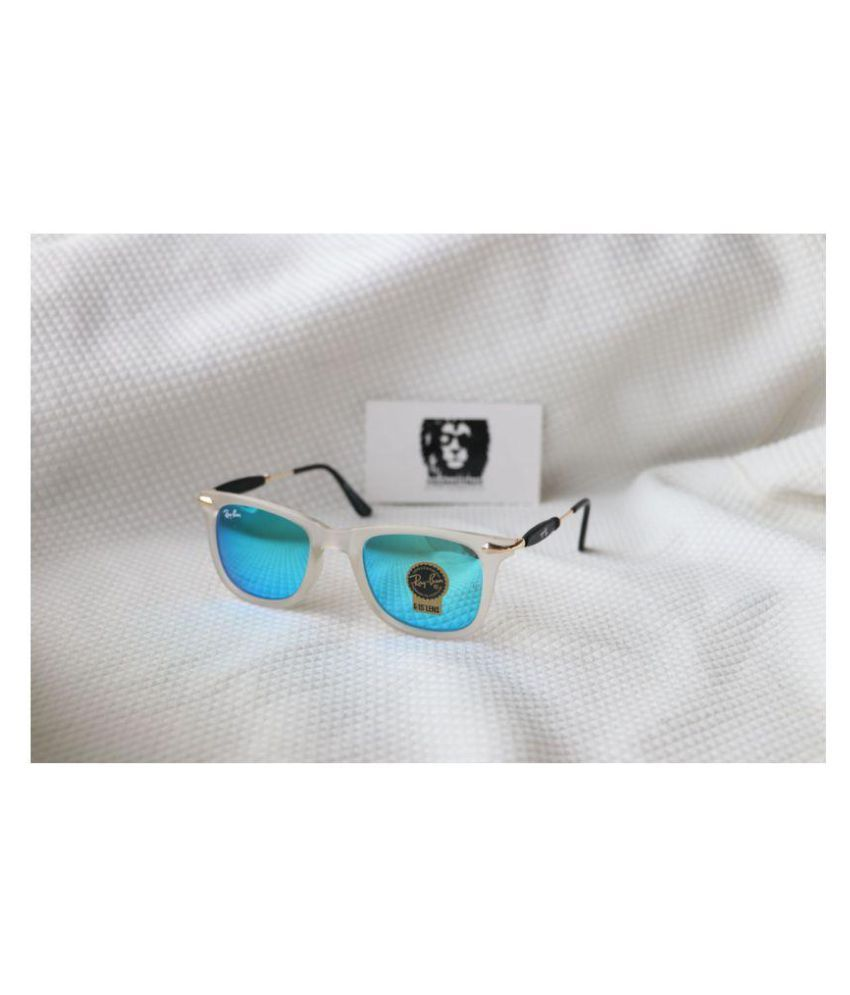 0c2487aeadc Ray Ban Sunglasses Blue Square Sunglasses ( square aqua blue white frame )  - Buy Ray Ban Sunglasses Blue Square Sunglasses ( square aqua blue white  frame ) ...