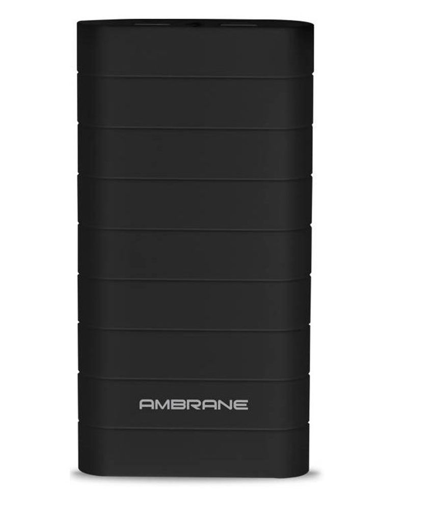 Ambrane Speedy S8 20000 -mAh Li-Ion Power Bank Black