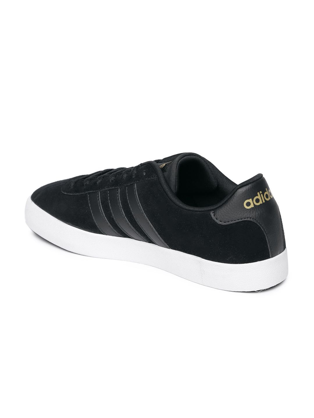 Adidas NEO Men Vlcourt Vulc Sneakers Black Casual Shoes