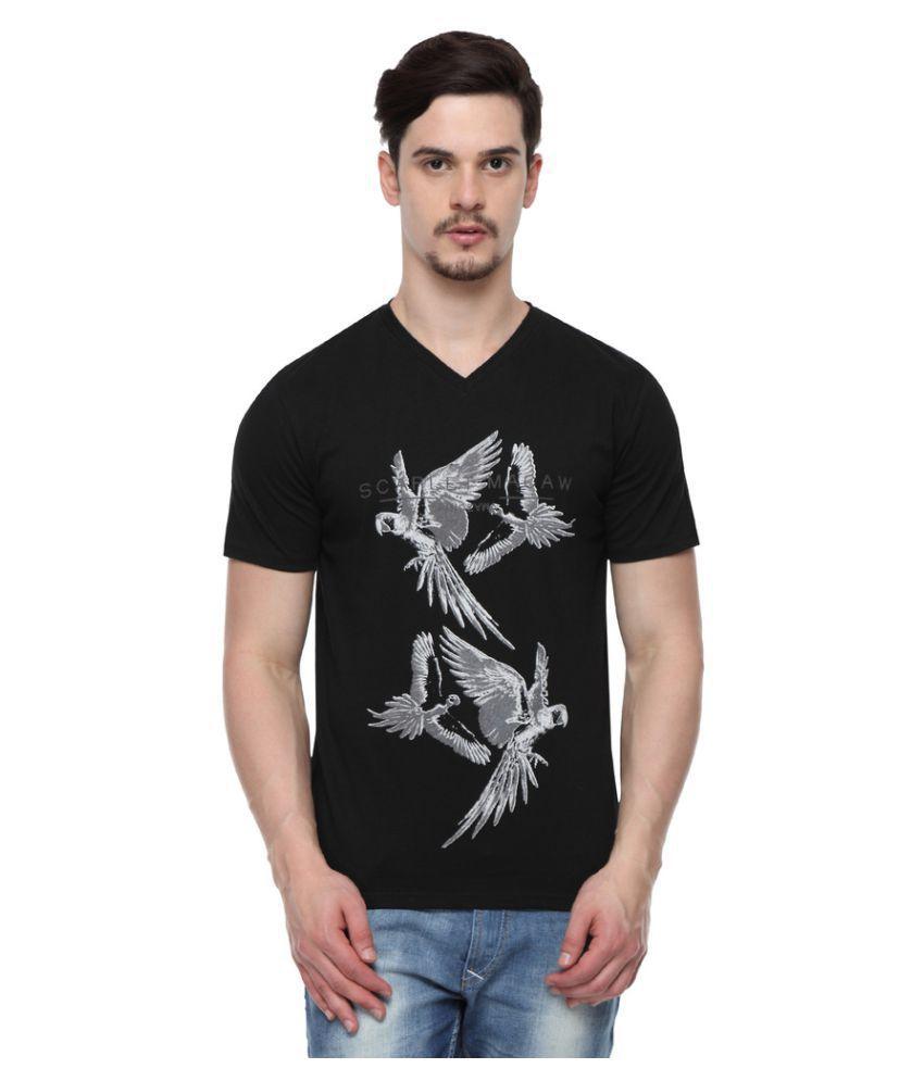 ODAKA Black V-Neck T-Shirt