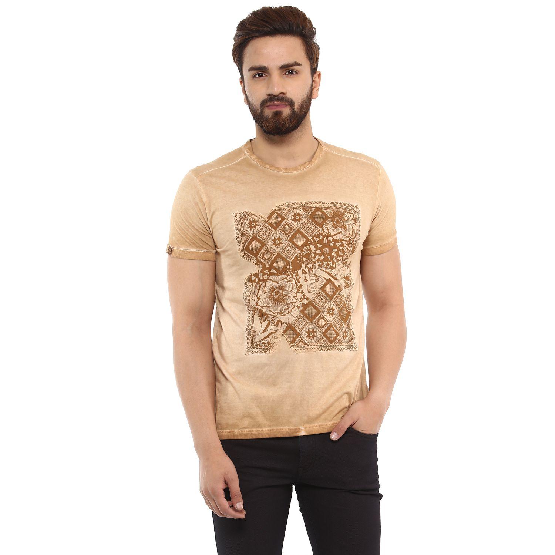 Mufti Brown Round T-Shirt