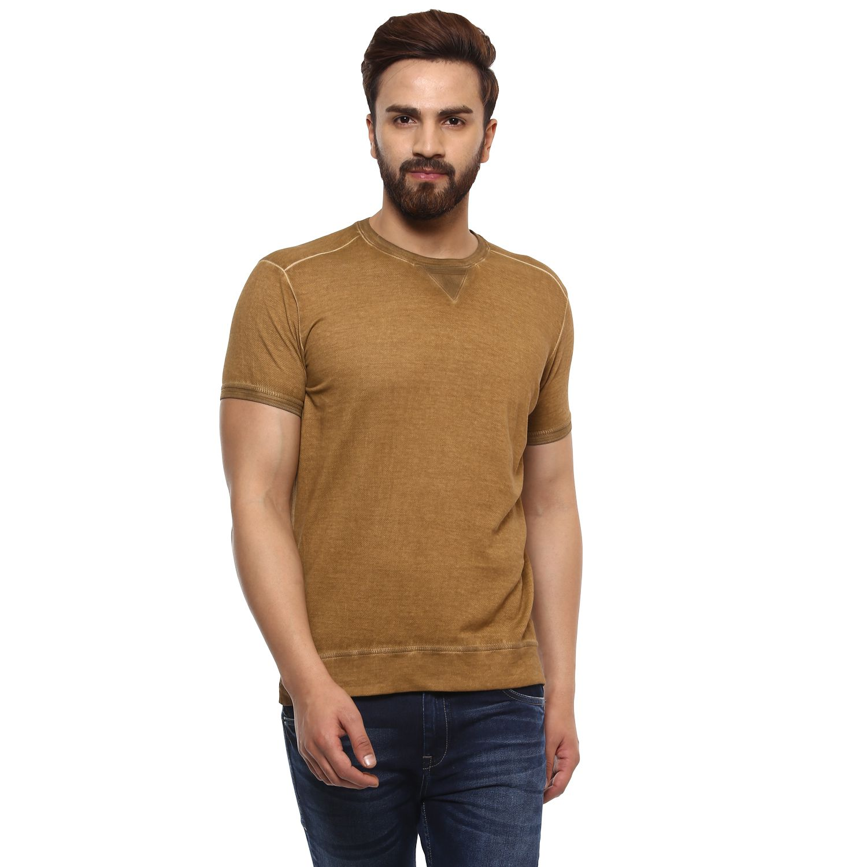 Mufti Khaki Round T-Shirt