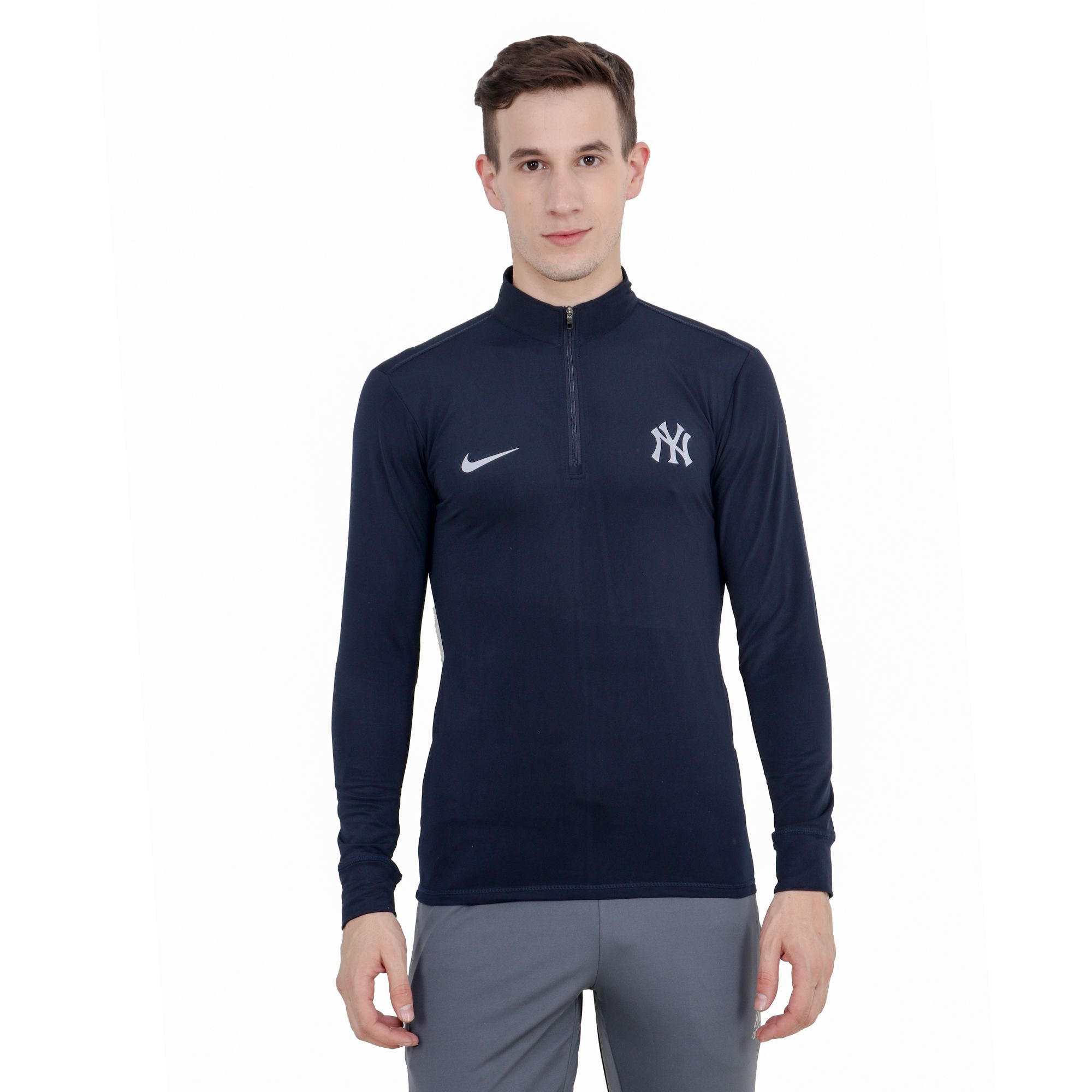 cbfe13e2f1ffc2 Nike Navy Polyester Lycra T-Shirt - Buy Nike Navy Polyester Lycra T-Shirt  Online at Low Price in India - Snapdeal