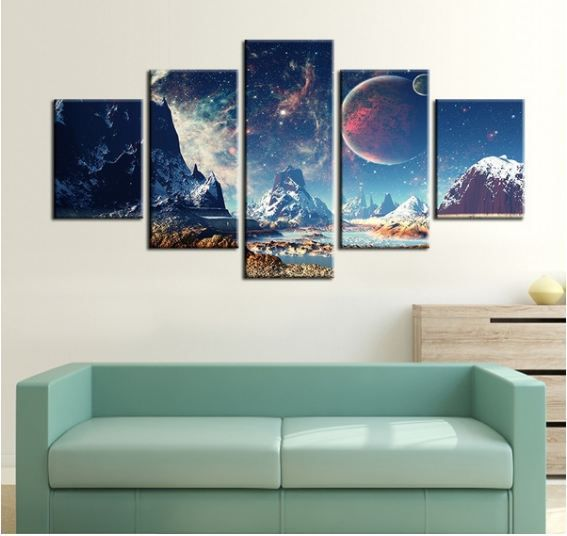 Mountain Moon Digital Canvas Printing without Frame AHDCP-x66