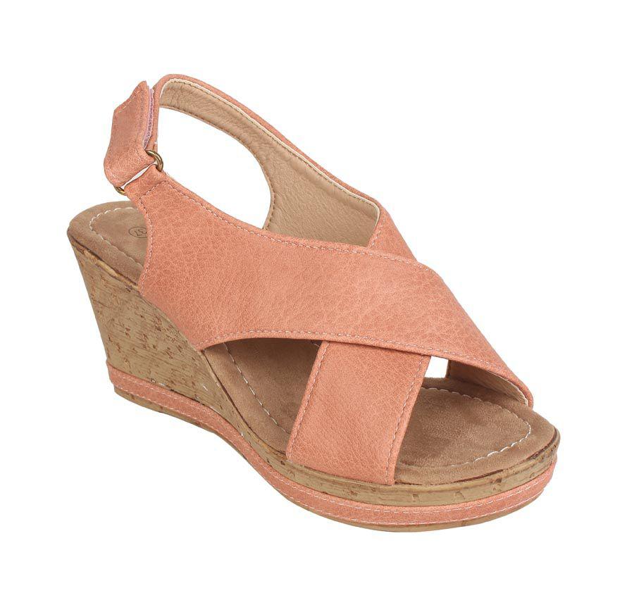 Estatos Orange Wedges Heels