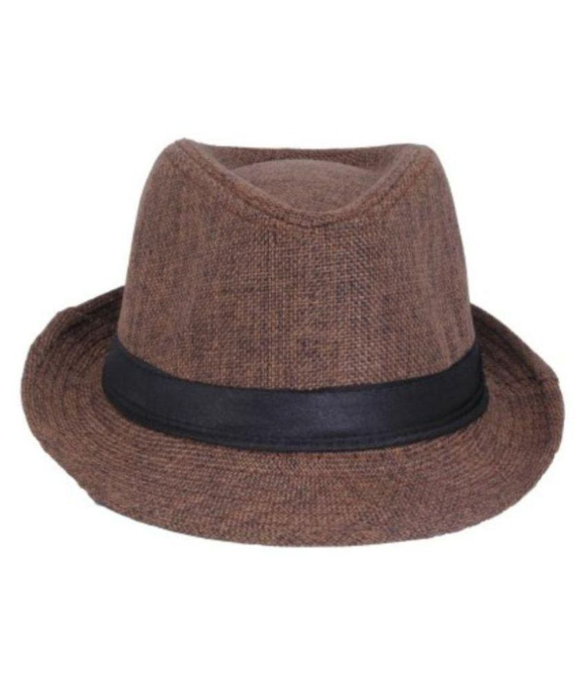6096fb7a2a504 Gold Star Brown Cotton Fedora Hat - Pack Of 1: Buy Online at Low Price in  India - Snapdeal