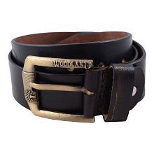 Woodland Black Leather Casual Belt - Pack of 1