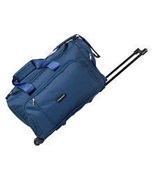 Indian Riders Trolley Bags/ Duffle Bag ( With Inside Trolley & Wheels) blue Medium