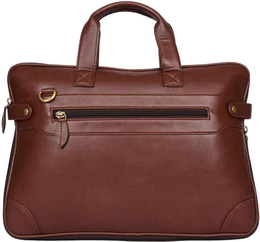 PhD Brown Synthetic Office Messenger Bag
