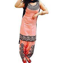 Suppar Sleave Orange Cotton Dress Material