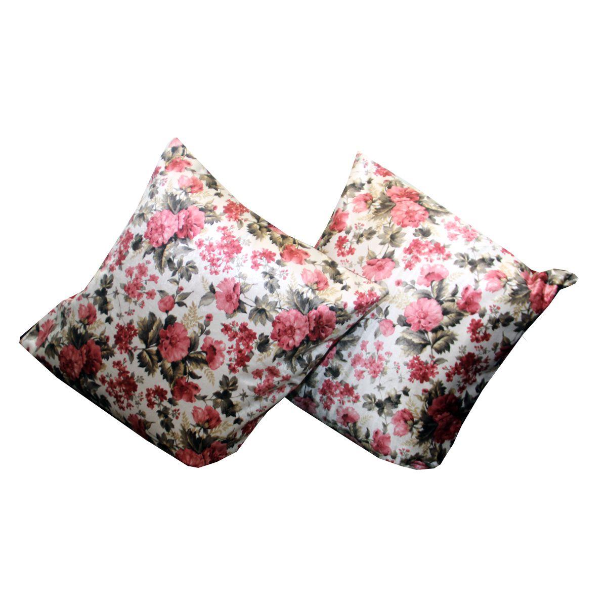 Kuber Industries Set of 2 Velvet Cushion Covers 40X40 cm (16X16)