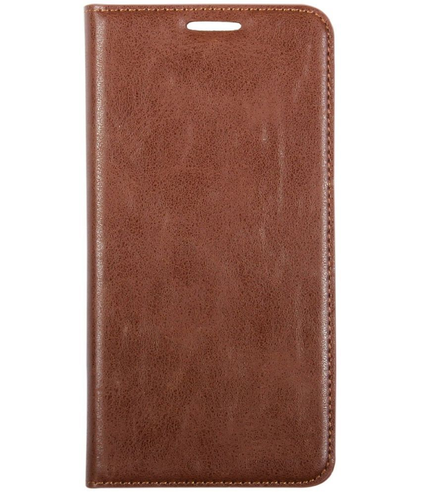 Oppo F1s Flip Cover by VinayakMobile - Brown Rich Boss Cover