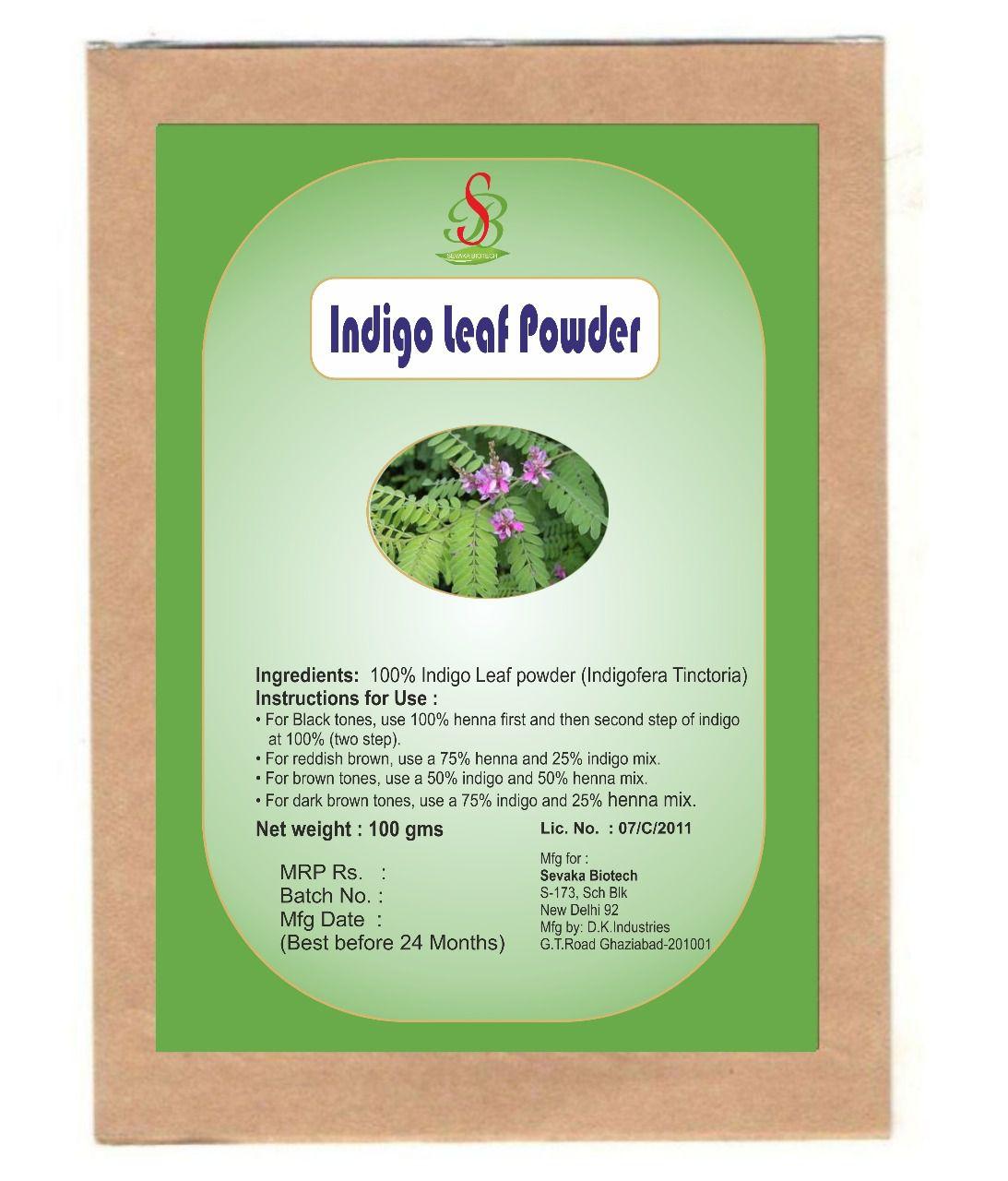 Sevaka Biotech Semi Permanent Hair Color Indigo 100 % Organic Pure Indigo Powder 100 gm