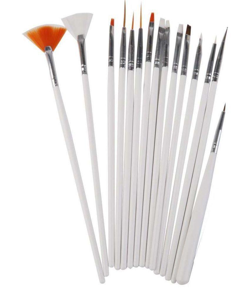 Fok Nail Art Combo 15pc Nail Brush Set 5pc Nail Pen Set And A