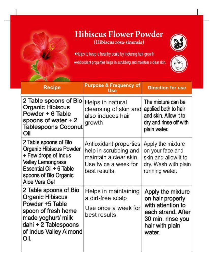 Indus Valley Hibiscus Bhringaraj Powder For Hair Scalp Treatment