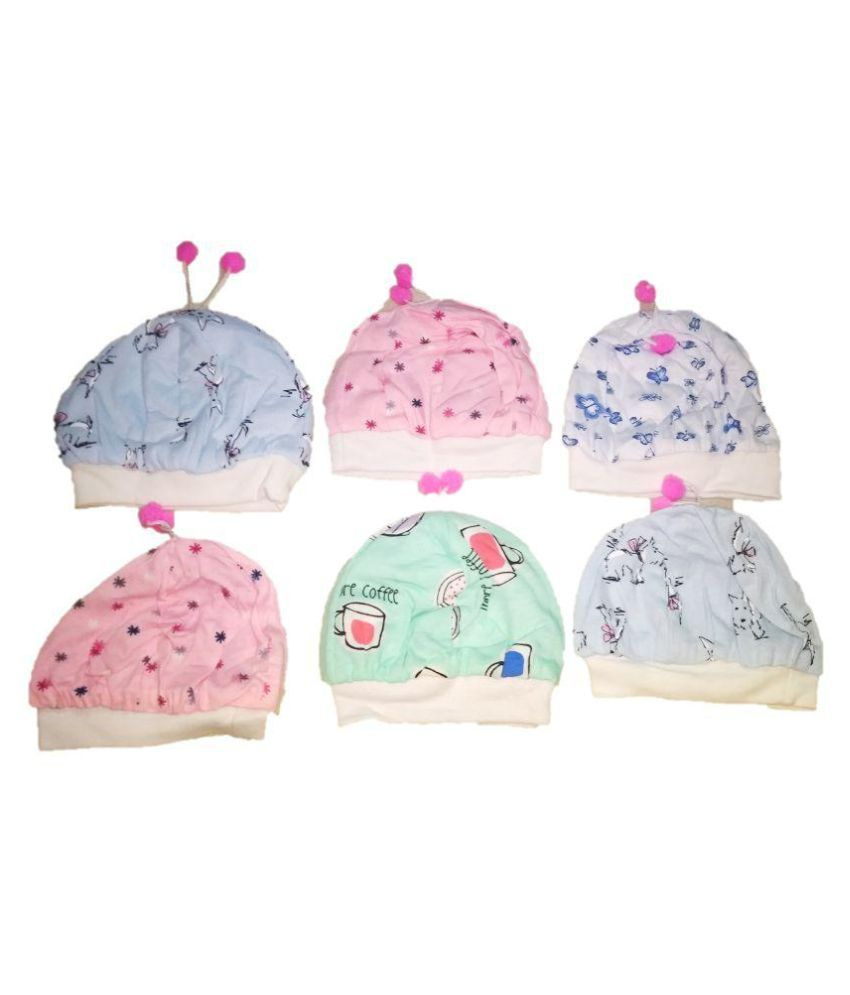 New Jain Traders - New Born Baby Soft Stretchable Cotton Bonnet Cap -  Unisex - Pack Of 6 Pcs  Buy Online at Low Price in India - Snapdeal b3ca4b7f953