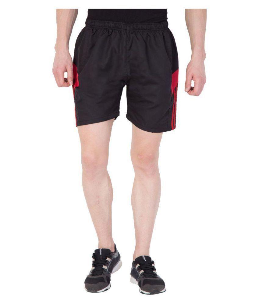 Tiger Grid Black Shorts
