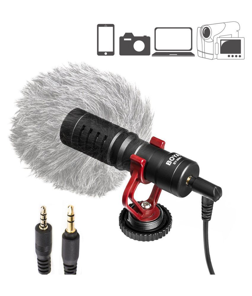 BOYA BY-MM1 Universal Cardiod Shotgun Microphone Mini Mic for IOS iPhone 8  8 plus 7 7 plus 6 6s Mac iPad Tablet Canon Nikon DSLR C