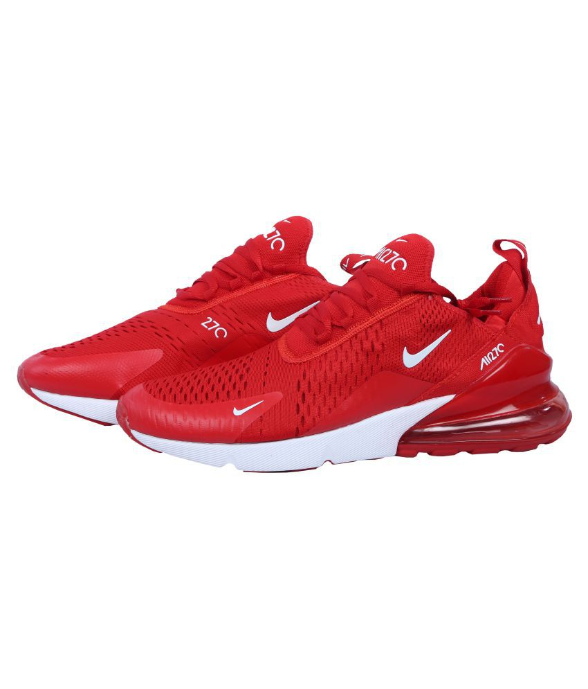 new style 6402a c5304 Nike Air Max 270 Red Running Shoes
