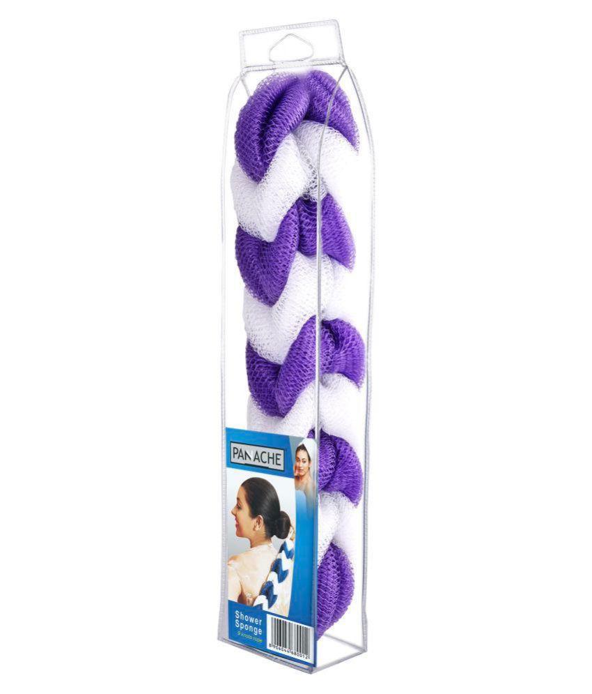 Panache Shower Sponge,purple & white,pack of 1 Bath Sponge Purple