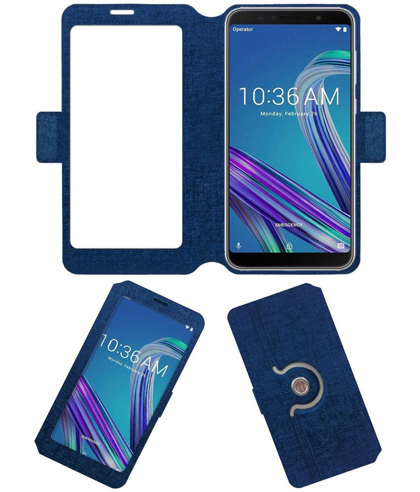Asus Zenfone Max Pro M1 Flip Cover by ACM - Blue NA