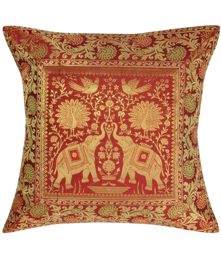 Lalhaveli Single Silk Cushion Covers 40X40 cm (16X16)