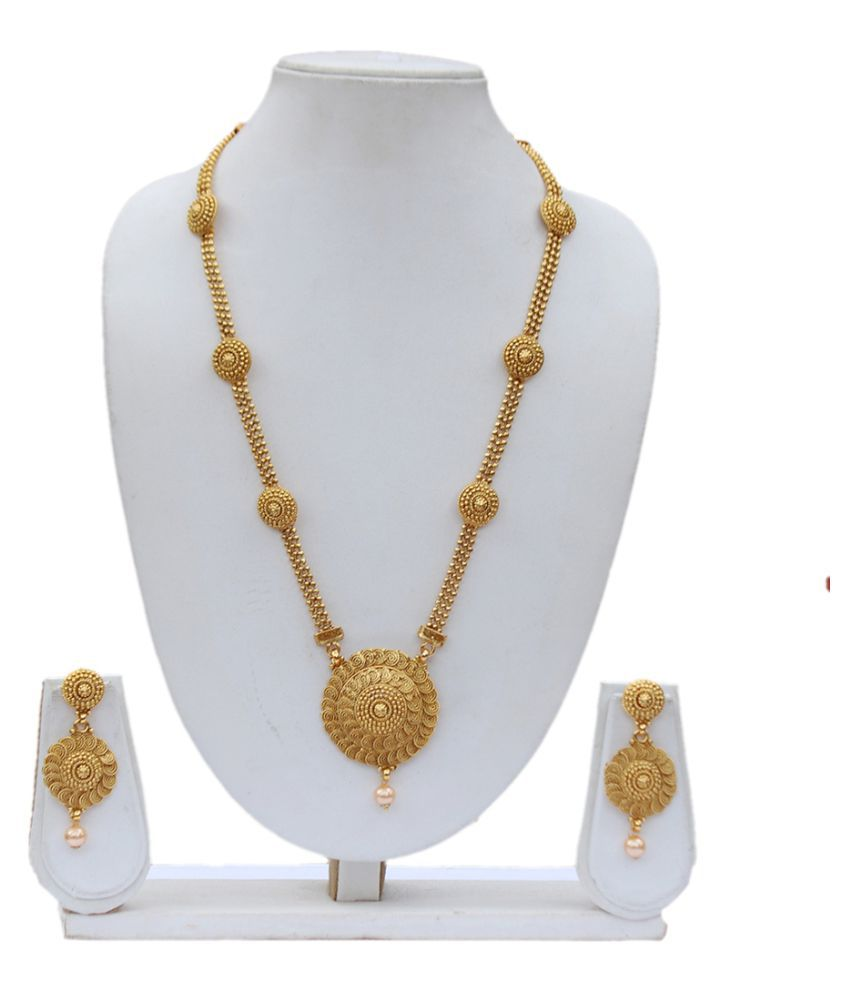 4890ef0f577 ... Lookethnic Beautiful Antique Artificial Gold Plated Long Necklace Set